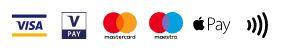 Meille käy yleisimmät maksukortit, käteinen sekä lasku. Laskulla maksaessa laskutuslisä 7,5€.