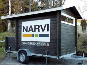 Kahdeksan henkilön saunakärry, kunnon löylyt isollakin porukalla missä tahansa! www.Saunakärry.fi